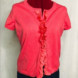 Jacob short sleeve button down sweater Size Large